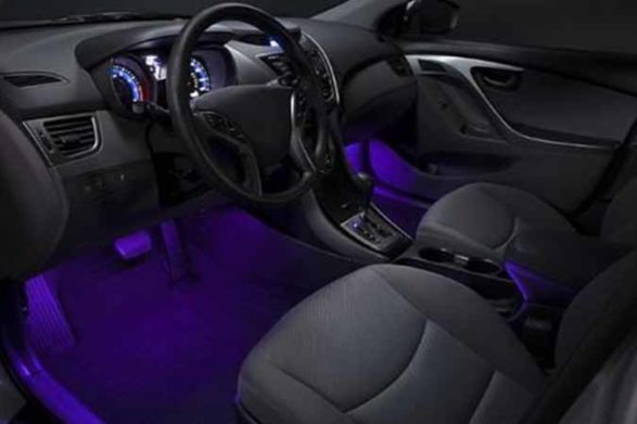 interior lighting of a car