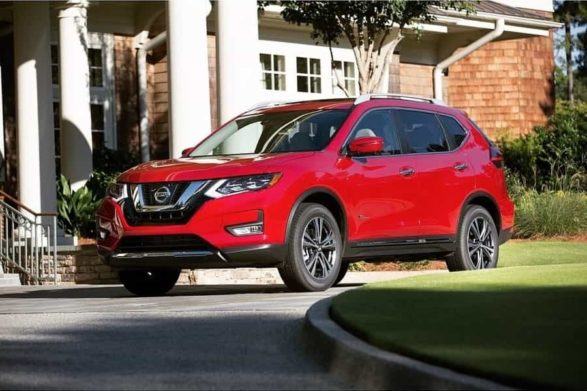 a red 2019 nissan rogue