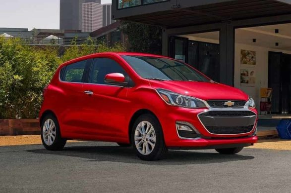 a red 2020 chevrolet spark
