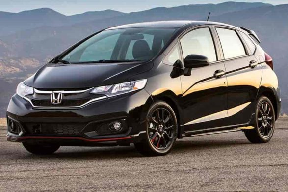 a black 2020 honda fit