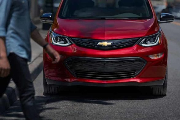 a red 2020 chevrolet bolt