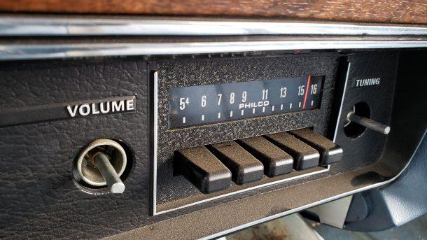 1974 Mercury Montego MX Brougham in Colorado junkyard, radio - ©2020 Murilee Martin - The Truth About Cars