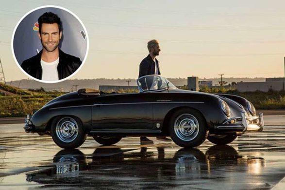 adam levine's black car in a music video scene