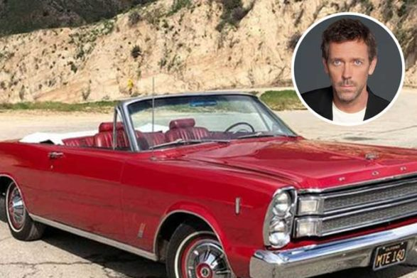 a version of hugh laurie's red convertible