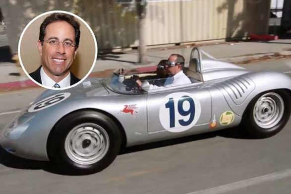 jerry seinfeld and his silver car