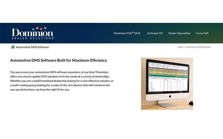 Certified through Oxlo Systems, the cloud-native DMS makes it easier to qualify for OEM incentives without additional service fees. -