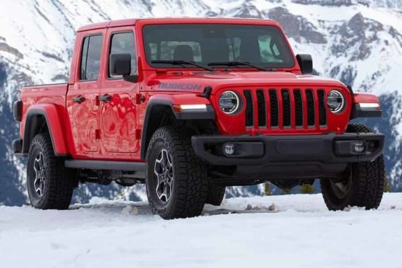 a red jeep gladiator