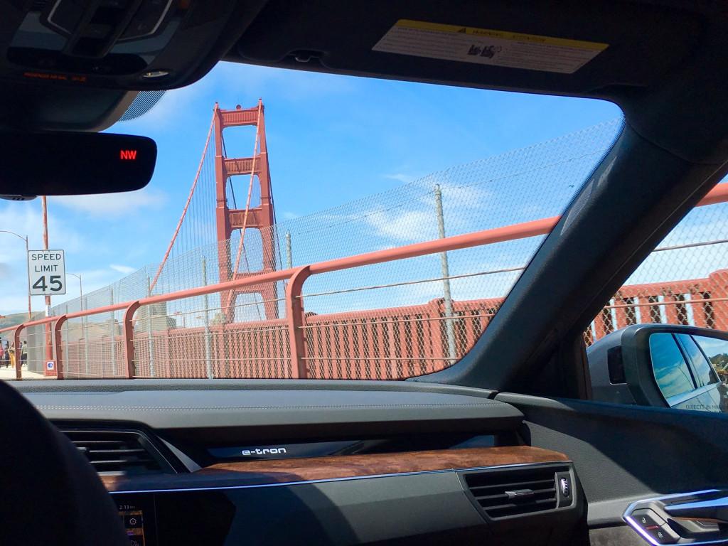 Audi e-tron, on the Golden Gate Bridge