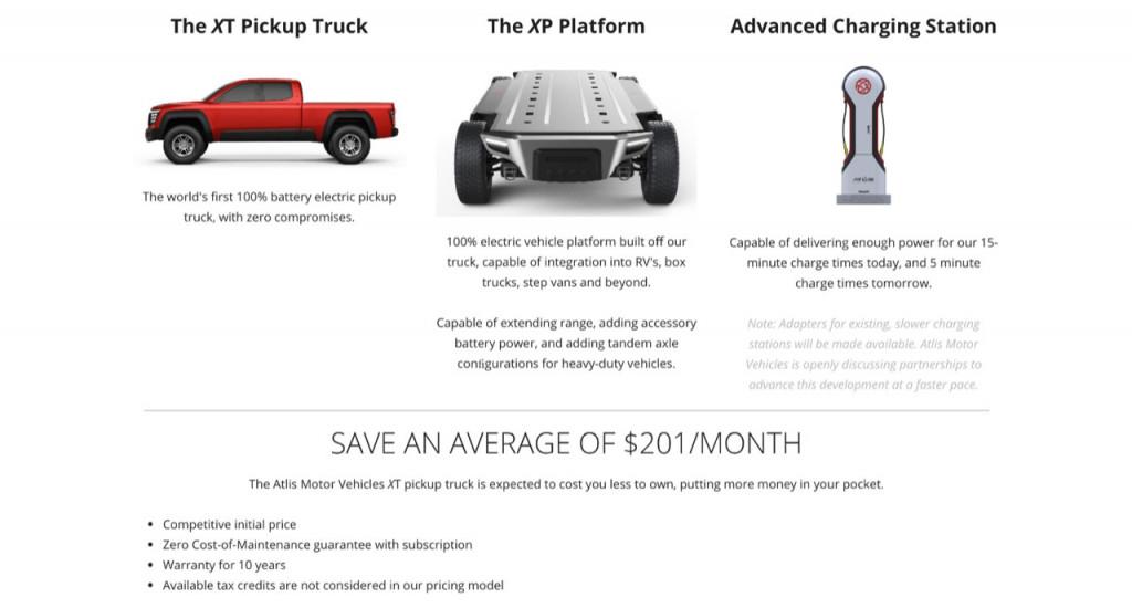 Atlis plan: electric truck, platform, charging