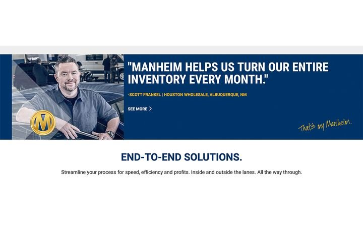 Powered by vAuto, the new Manheim Dashboard gives Provision clients a leg up on the competition by bringing actionable data and insights to Manheim's digital platforms. - IMAGE: Manheim.com