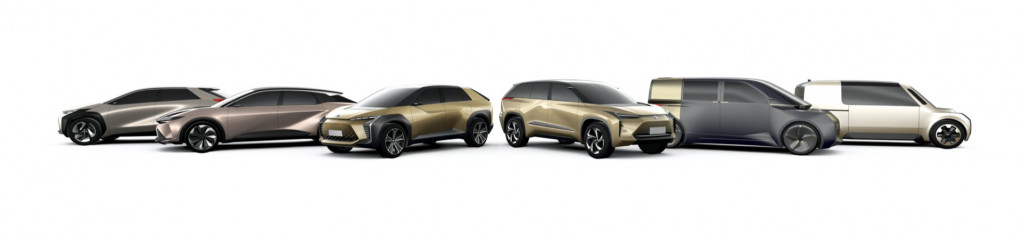 Toyota future electric vehicle designs - 2019
