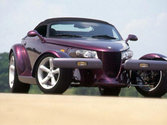 a purple plymouth prowler