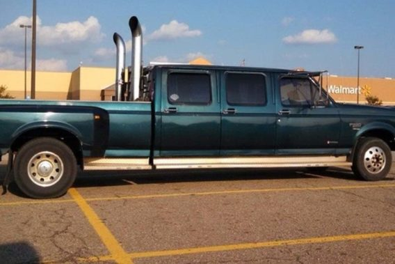 a truck with an extended cab that has 3 doors on each side