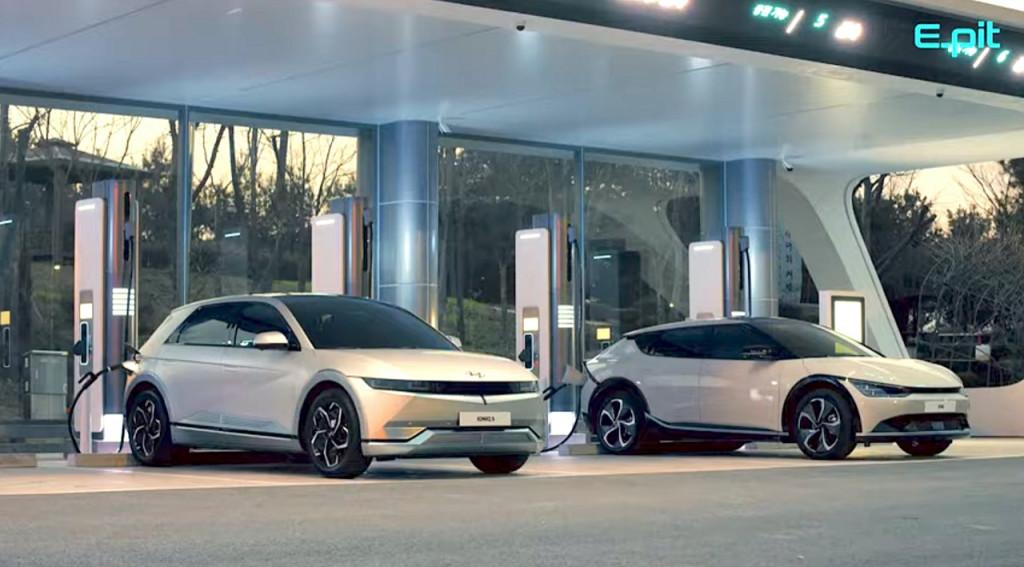 Hyundai Ioniq 5 and Kia EV6 - Hyundai E-Pit fast-charging