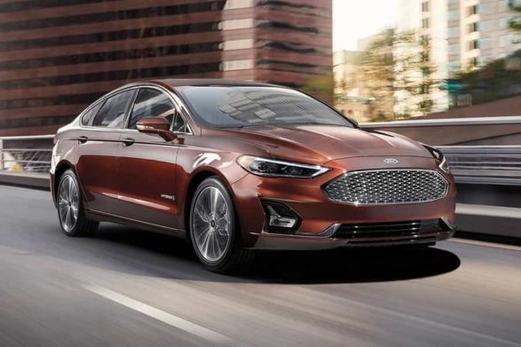 2019 ford fusion hybrid in a copper color