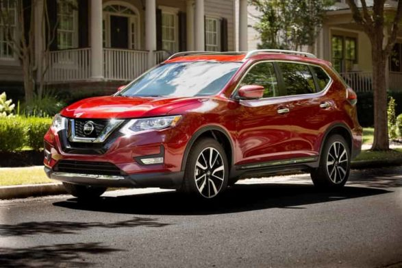a 2019 red nissan rogue