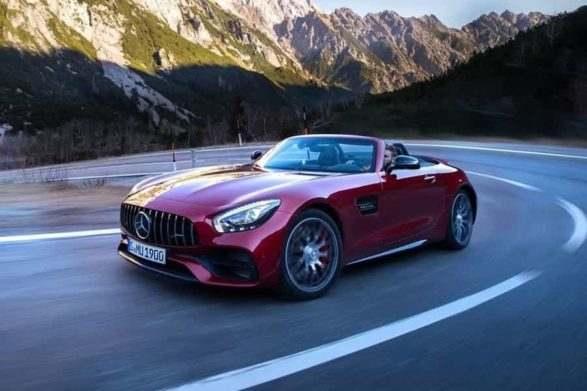 red 2019 mercedes-amg gt