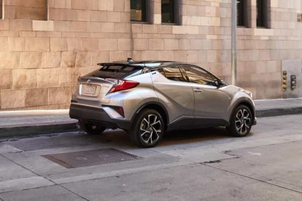 a silver and black 2019 toyota c-hr