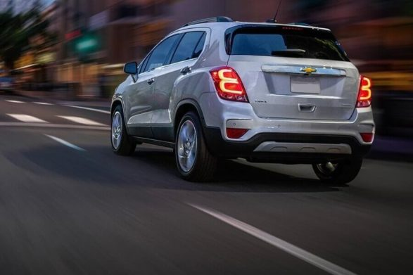 the beck end of a 2019 chevrolet trax