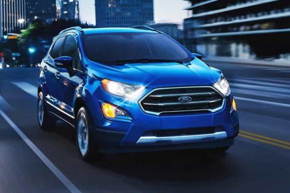 a blue 2019 ford ecosport