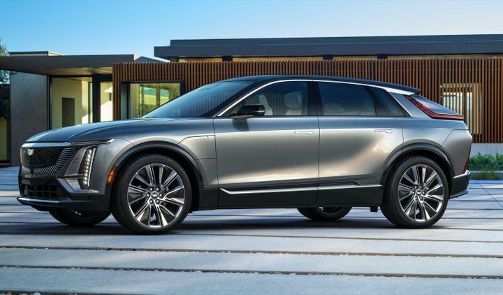 Cadillac's Lyriq, a midsize crossover with a base price of $59,990, will reach dealerships in the first half of 2022. - Cadillac
