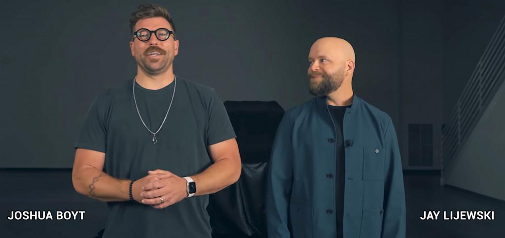Joshua Boyt and Jay Lijewski at Alpha Motors