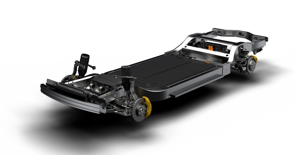 Rivian R1T, R1S chassis