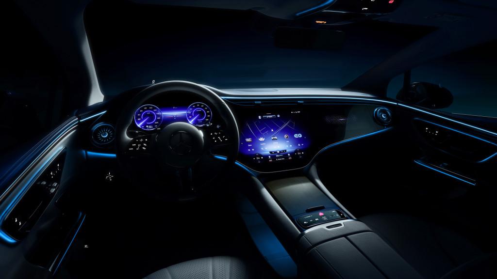 Mercedes-Benz EQE teased ahead of 2021 Munich auto show