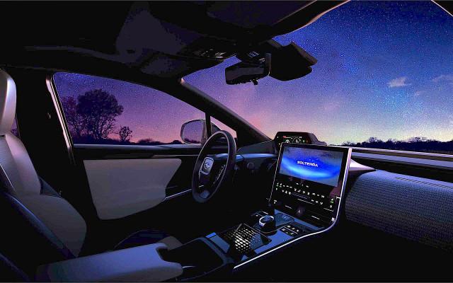 Subaru Solterra electric SUV teaser