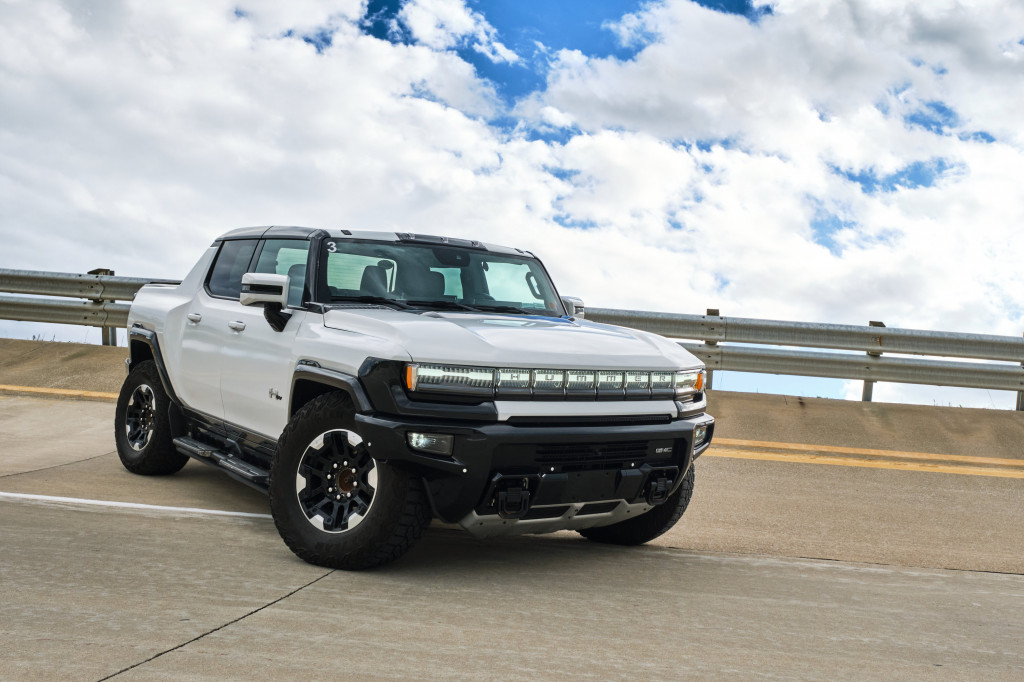 2022 GMC Hummer EV prototype, engineering drive, September 2022 at the Milford Proving Grounds